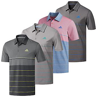 Adidas Golf mens Ultimate365 Heather Stripe Polo shirt