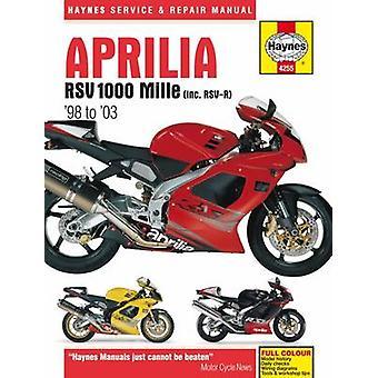 Aprilia RSV100 Mille Motorcycle Repair Manual by Anon - Editors of Ha