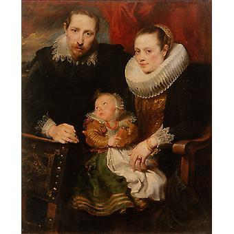 Family Group, Anthony Van Dyck, 50x40cm