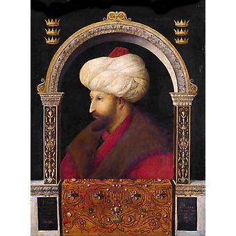 Sultan Muhammad II, Gentile Bellini, 50x37cm