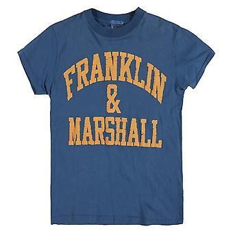 Franklin & Marshall painettu logo T-paita