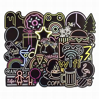 Stickers, 50 pack-Neon #2