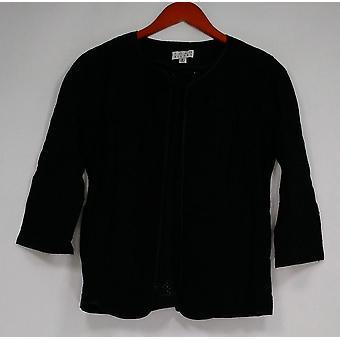 Joan Rivers Classics coleção mulheres ' s camisola padrão misto preto A291168