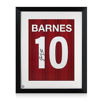Framed John Barnes Signed Liverpool Print: Number 10