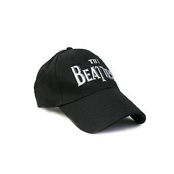 The Beatles Baseball Cap Shining chrome Drop T band Logo Official Black