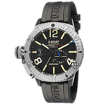 U-boat Sommerso Automatic Analog Man Watch with 9007A Silicone Bracelet