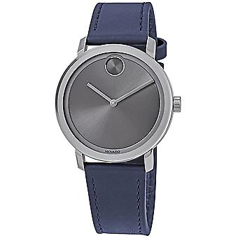 Movado Bold Navy Leather Mens Watch 3600507