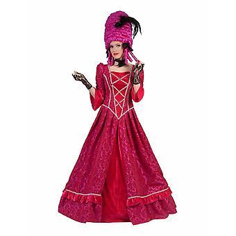 Puku Marquise Ladies Rococo barokki Countess Madame Dress Renaissance vaaleanpunainen Adel Carnival Carnival naisten puku