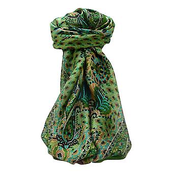 Maulbeere Seide traditionelle Quadratische Schal Osh Salbei von Pashmina & Seide