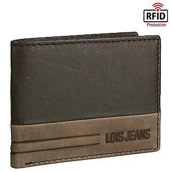 Leder Bicolor Horizontal Leder Brieftasche echtes Leder Modell Dutton