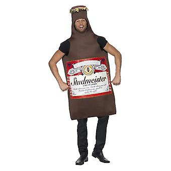 Mens Studmeister bier fles Fancy Dress kostuum