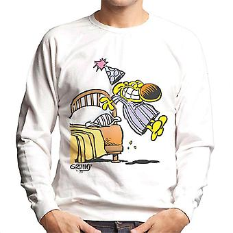 Grimmy Jumping Out Of Bed Men's Sweatshirt