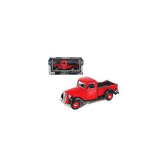 MotorMax  American Classics - 1937 Ford Pickup Red   1:24