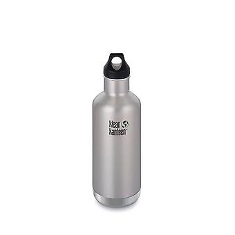Klean Kanteen 946ml Classic Vac Insulated Bottle Brushed Steel