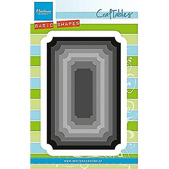 Marianne Design Craftables Basic Shapes Ticket Die, Grey