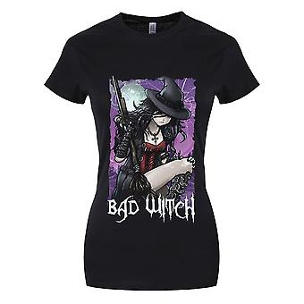 Grindstore Womens/Ladies Bad Witch Halloween T-Shirt