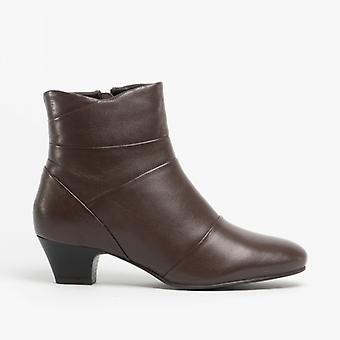 لوتس تمارا السيدات الجلود الكاحل أحذية براون
