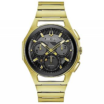 Bulova 97A144 Men-apos;s Gold Tone Curv Chronograph Montre-bracelet