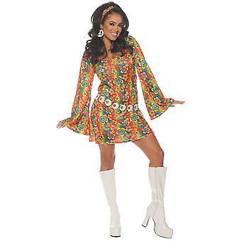 Summer Boogie 1960 Disco retro groovy hippie hippy vuxen Womens kostym