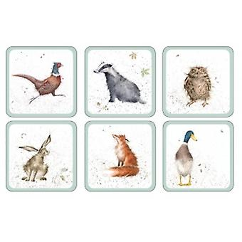 Wrendale Designs Woodland Design Coaster Set