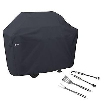 Bbq Grill Cover, Medium, Con Grill Tool Set - Grilling Spatula, Pinze e Forcella