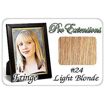 #24 vaalea blondi Pro Fringe Clip otsa tukka