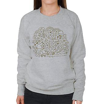 Peanuts Snoopy Skating And Listening To Music Women's Sweatshirt