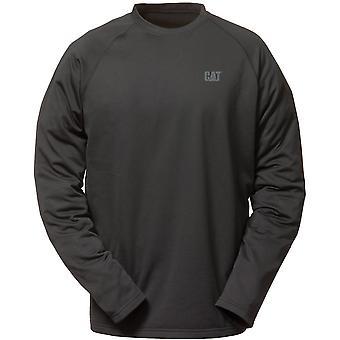 Caterpillar Mens Flex camada manga compridas Raglan T camisa preta