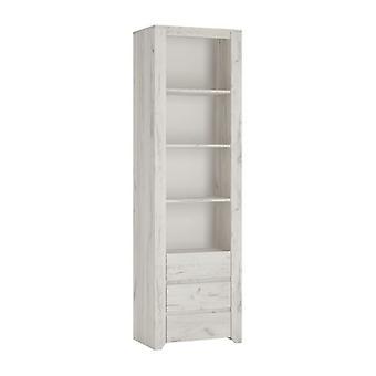 Aspen Tall Narrow 3 Drawer Bookcase