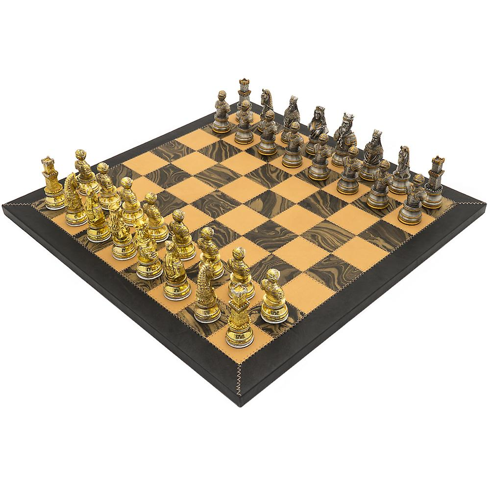 The Medieval Amalfi Hand Crafted Deluxe Chess Set by Italfama
