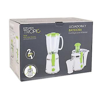 2-w-1Blender Kuchnia Tropic MKT92230 300W Biały Zielony