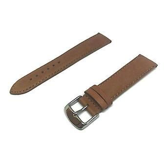 Calf leather watch strap tan superior supple size 18mm to 22mm