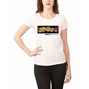 Blink 182 T Shirt California Album Cover Official Womens New White Skinny Fit