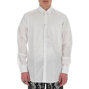 Dolce E Gabbana G5ej0tfr5xzw0800 Män's vit bomullsskjorta