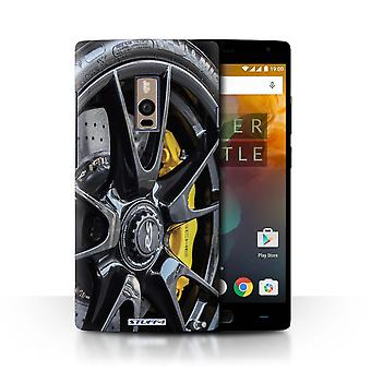 STUFF4 Case/Cover for OnePlus 2/Two/Black/Yellow/Alloy Wheels
