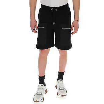 Les Hommes Lij502753n9000 Men's Black Polyester Shorts