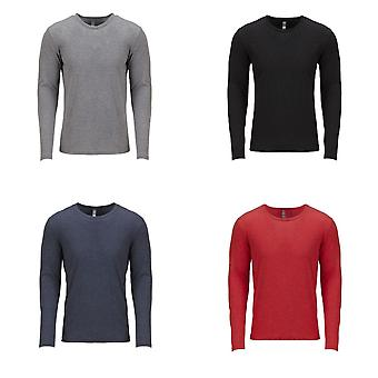 Next Level Adults Unisex Long Sleeve Tri-Blend Crew T-Shirt
