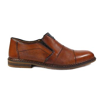 Rieker B1765-24 Tan Leather Mens Slip On Shoes