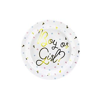 Boy or Girl Paper Plates  x 6 Baby Shower