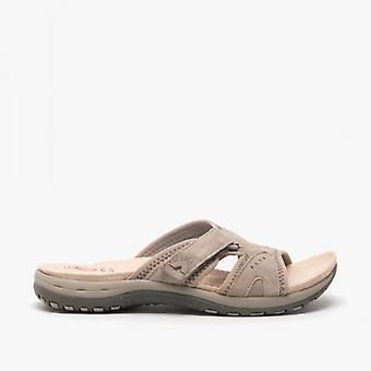Earth Spirit Wickford Ladies Suede Mule Sandals New Khaki