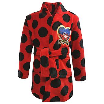 Miraculous ladybug girls dressing gown red