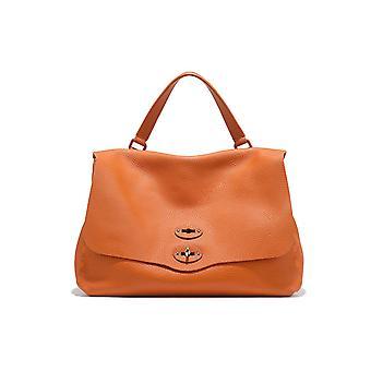 Zanellato 6801p604 Dames's Oranje lederen handtas