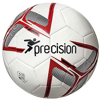 Precision Fusion Recreational Match Training Football Soccer Ball White/Red