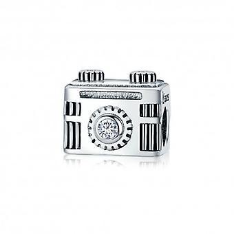 Sterling Silver Charm Vintage Camera - 5441