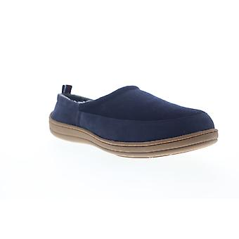 Ben Sherman Matt Clog  Mens Blue Suede Slip On Clogs Slippers Shoes