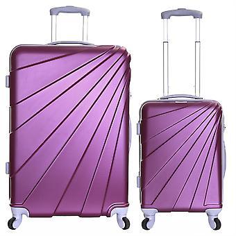 Slimbridge Fusion Set de 2 valises dures, prune