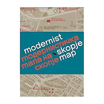 Modernist Skopje Map by Allison Meier - 9781912018611 Book