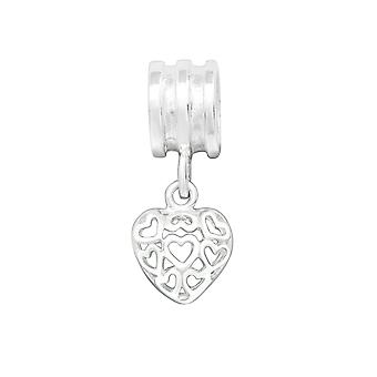 Heart - 925 Sterling Silver Plain Beads - W23570x