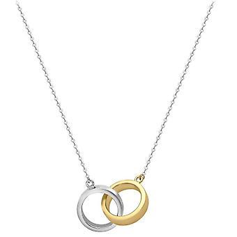 KJ Beckett Interwined anéis colar - amarela ouro/prata