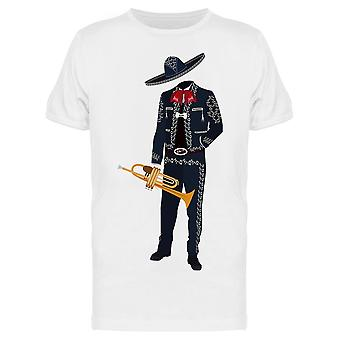 Mariachi Musician With Trumpet Tee Men's -Image by Shutterstock